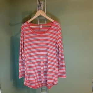 Lularoe Women's Lynnae Shirt Top Size XL